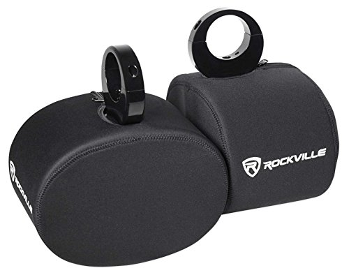 Rockville Pair Neoprene Covers For 6x9' Marine Wakeboard Tower Speakers (RWBC69)