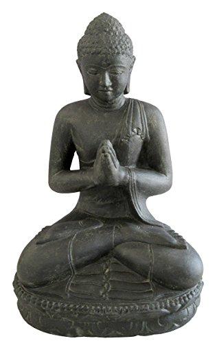 Salutation du Bouddha assis, 20 cm, figurine en pierre, coulé en pierre, résistant au gel