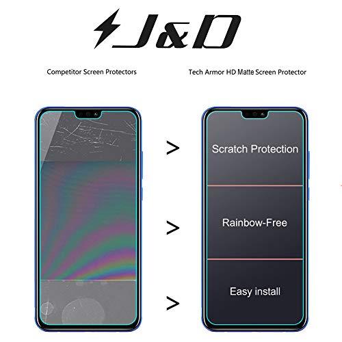 J&D Kompatibel für 8 Pack Honor 8X Displayschutzfolie, [Antireflektierend] [Nicht Ganze Deckung] Hochwertige Matte Folie Schutzschild Displayschutzfolie für Huawei Honor 8X - [Nicht für Honor 8X Max] - 6