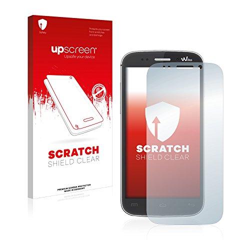 upscreen Schutzfolie kompatibel mit Wiko Stairway – Kristallklar, Kratzschutz, Anti-Fingerprint