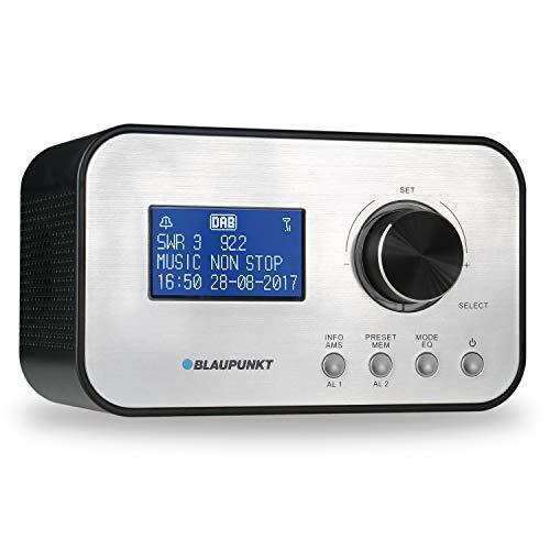 BLAUPUNKT CLRD 30 Radiowecker, Digital Radio DAB+, Uhrenradio mit USB Ladefunktion, Zwei Weckzeiten, Snooze Funktion und Sleeptimer, 6 Watt RMS, RDS (Senderanzeige) Schwarz