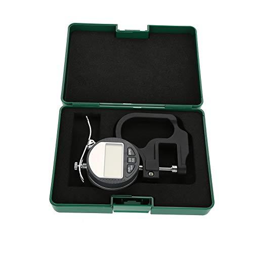 Digitales Dickenmessgerät, Messwerkzeugbereich 0-12,7 mm 0,01 mm zum Messen der Dicke von Leder, Papier