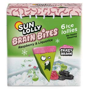 Sun Lolly Brain Bites Raspberry & Liquorice