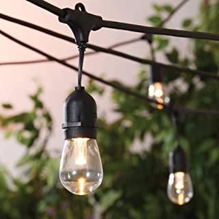 Better Homes and Gardens LED Cafe String Lights, Industrial Style, Heavy Duty, 14 Bulb Strand, Great for Indoor and Outdoor Use!