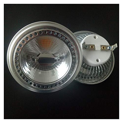 Bombillas led 2pcs De Regulación De Luz LED AR111 15W ES111 Base De Lámpara De La Pista Ángulos De Rotación GU10 G53 Bombilla led de maíz (Color : 220-240V, Size : Warm White 3000K)
