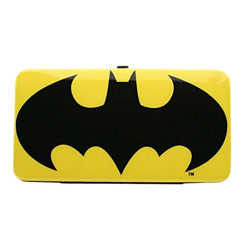 Batman Glitter Geldbörse Logo DC Comics gelb schwarz