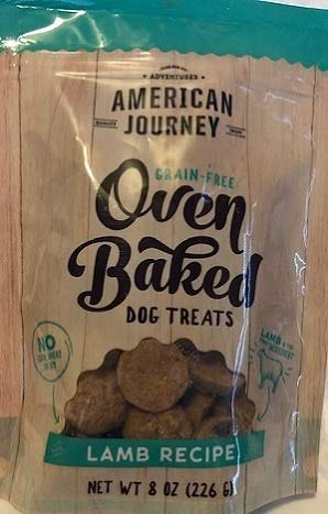 American Journey Grain Free Oven Baked Dog Treats Lamb Recipe 1-Bag NET WT 8 OZ