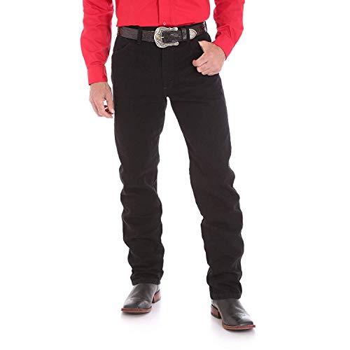 Wrangler Men's 13MWZ Cowboy Cut Original Fit Jean, Shadow Black, 35W x 34L