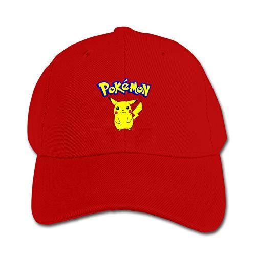 Kids Baseball Hat Sun Hat Dad Hat Pok&Emon Infant Toddler Hats for Boys Hats Distresed-Washed Soft Adjustable Size Red