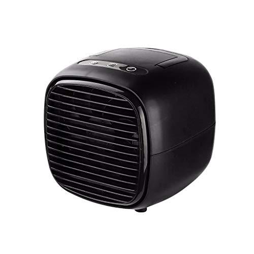 Lomelomme Air Cooler Office Home Refrigeration - Ventilatore portatile da scrivania per piccoli impianti di condizionamento e diffusore di aromi, Nero , Taglia unica