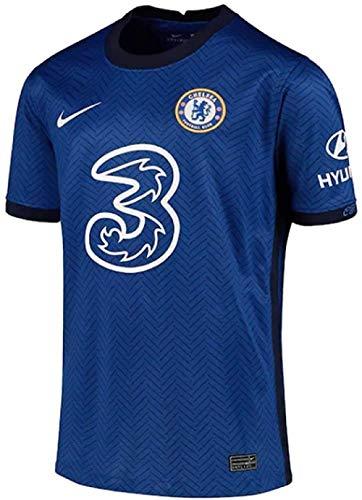 NIKE Chelsea Temporada 2020/21-CFC Y NK BRT STAD JSY SS HMCD4498-496 Camiseta Primera Equipación, Niño, Rush Blue/White Full Sponsor, XS