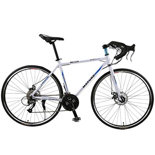 Gaoyanhang Bicicleta de Velocidad Variable de aleación de Aluminio 700C, Carreras de Freno de Disco Doble Ultraligero 21/27/30 Bicicleta de Carretera Curvada de Velocidad