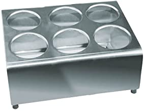 Winco FC-6H 6 Hole Flatware Cylinder Holder, 2-Tier