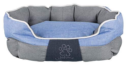 Trixie 37534 Bett Joris, 75 × 60 cm, grau/blau