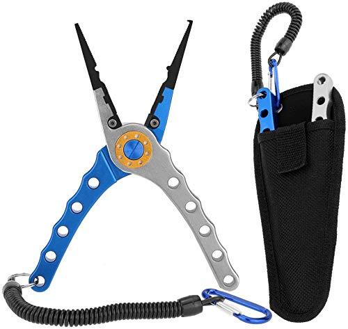 TIAO TIAO GE 20 cm, alicates multifuncionales para pesca en exteriores, color azul y plateado