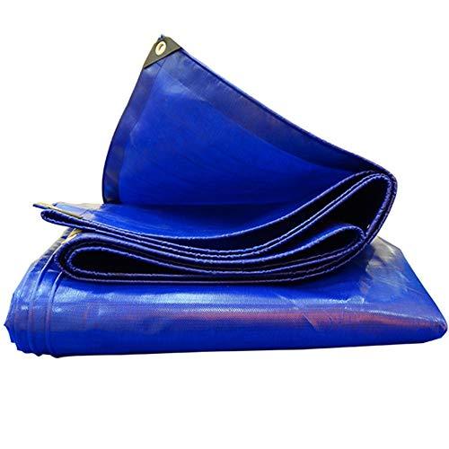 Zaixi dekzeil, waterdicht, voor picknick, patio, bouwzeil, vloerbedekking, voor huisdieren, blauw 4x5m