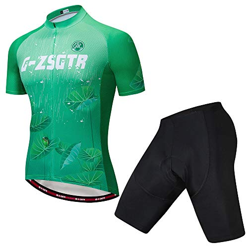 HXTSWGS Summer Cycling Jersey Set,Breathable Team Racing Sport Bicycle Jersey,Mens Cycling Clothing Short-C_5XL