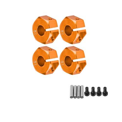 Morninganswer Acoplador de asiento de rueda hexagonal de 7 mm con pines de aleación de aluminio de actualización de piezas combinador para 1:10 RC Car Crawler Traxas TRX-4