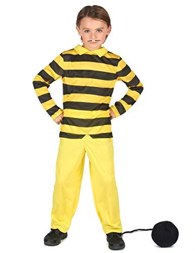 Vegaoo - Disfraz Dalton niño - Lucky Luke - S 4-6 años (110-120 cm)