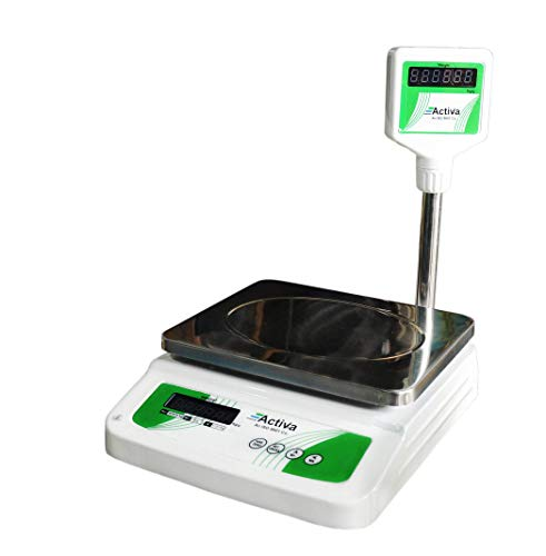 Activa Digital Weighing Table Top Retail Scale (35 kg, White)