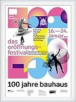 ポスター バウハウス 100 Jahre Bauhaus Festival 2019 white 額装品 ウッドハイグレードフレーム(ホワイト)
