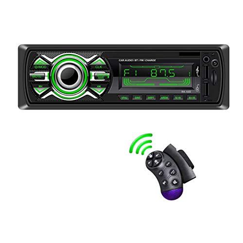 Autoradio, LSLYA Autoradio Bluetooth, 1 DIN Autoradio, Vivavoce Bluetooth Chiamate ,Telecomando Radio FM Autoradio con lettore MP3 USB e Bluetooth Impianto Stereo
