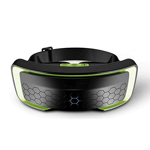 Nanyun Draadloze USB-verwarming, elektrisch, met slaapdamp, oogmasker Blindfold 3 hot compressie, modes opneembaar, opvouwbaar, voor verlichting van Puffy Dark Circle, Groen