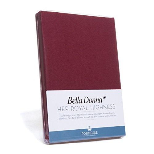Formesse Spannbettlaken Bella Donna Jersey bordeaux Größe 140x200 cm - 160x200 cm