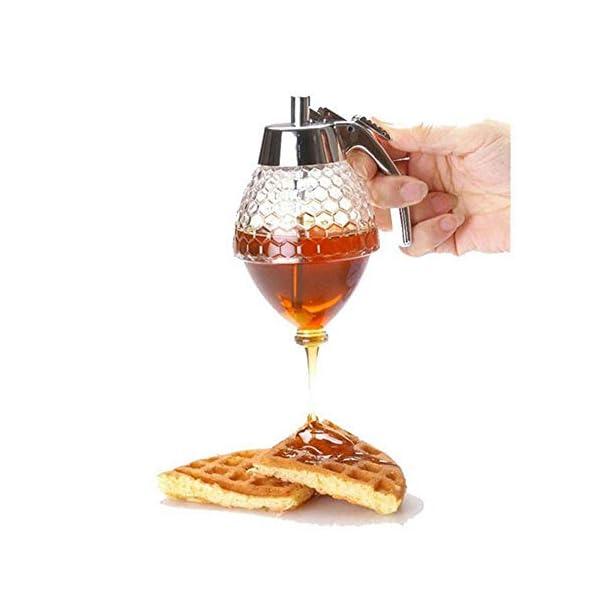 Dispensador de miel, dispensador de jarabe, dispensador de jarabe de vidrio,