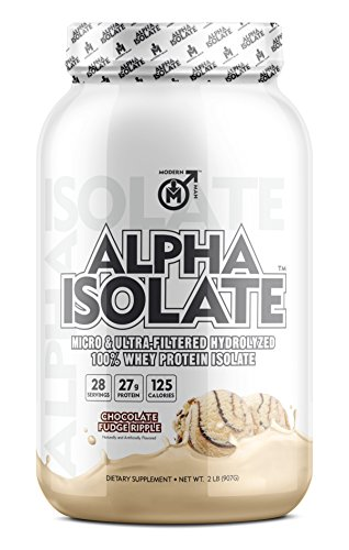ALPHA ISO - Whey Protein Isolate Powder | Best Tasting 100% Grass Fed Whey | Low Carb Protein Powder for Lean Muscle Building & Weight Loss, Post Workout Supplement for Men, Chocolate Fudge, 28 Sv
