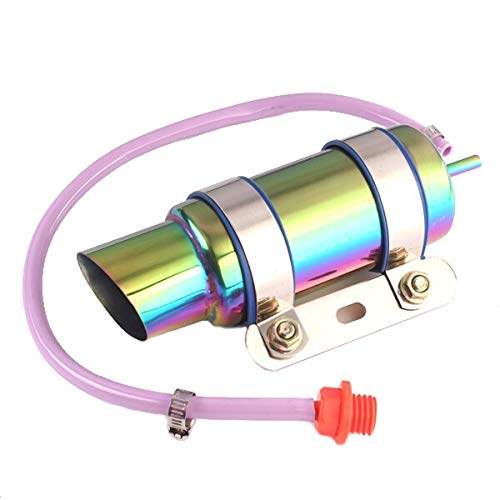 ZHFENG De partes de motos de aceite Radiador de refrigeración for GY6 O 1.8cm entrada del motor Repuestos de motos nuevas (Color : Silver)