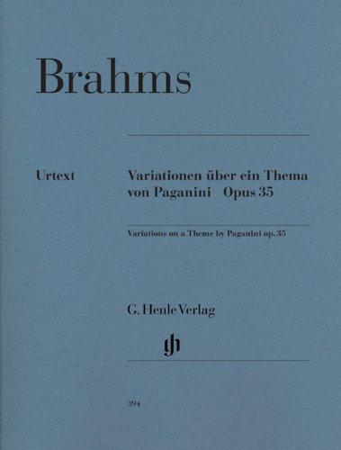 ブラームス: パガニーニの主題による変奏曲 Op.35/ヘンレ社/原典版