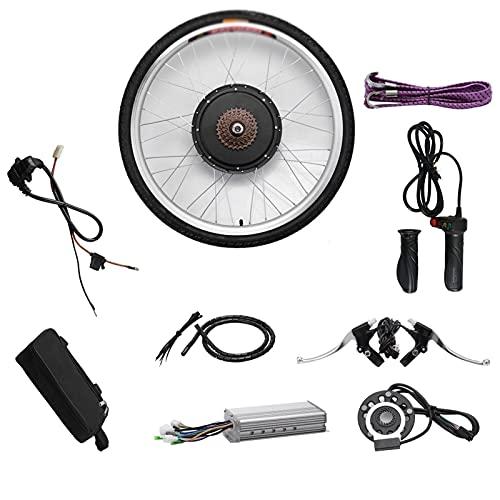 SKYWPOJU Kit de conversión de Bicicleta eléctrica, 48V 1000W 20' 24' 26' 28' 29' 700c Kit de conversión de Motor de Bicicleta de Rueda Delantera/Trasera Eje de Ciclo de Bicicleta eléctrica