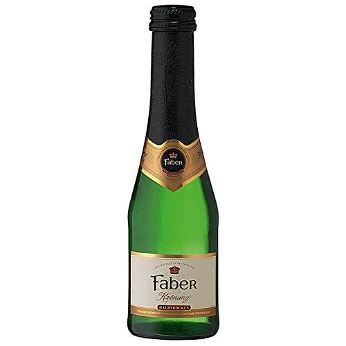24 Flaschen Faber Krönung Sekt weiß halbtrocken a 200ml Piccolo