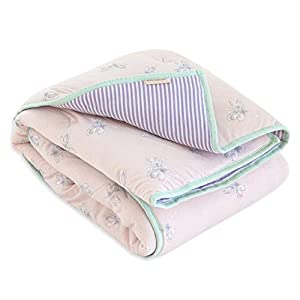 Burt's Bees Baby – Reversible Quilt, Baby and Toddler Nursery Blanket, Organic Cotton Shell & Polyester Fill