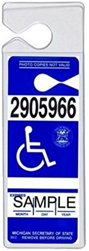 SecurePro Products Super Heavy-Duty Handicap Placard Protective Plastic Holder Sleeve for Disabled Parking Permits