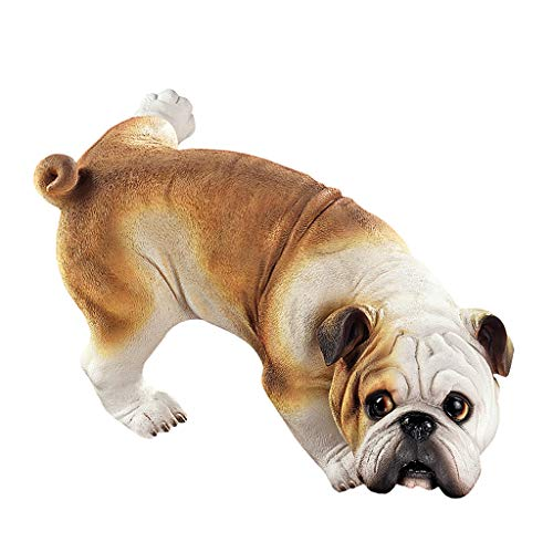 """Design Toscano """"Guter Hund ist unartig"""", Pinkelnde englische Bulldogge, Figur"""