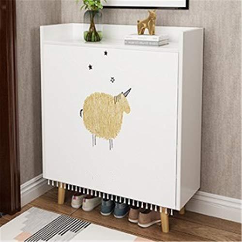 Yamyannie Gabinete de Zapatos Zapatero Dormitorio Dormitorio Dormitorio Multi-Capa Aparato Pequeño Cabinete Pequeño Gabinete de Calzado para Casa (Color : White, Size : 110x30x80cm)
