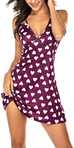 Ekouaer Sexy Nightgowns for Women Slip Night Dress Babydoll Sleep Wear product image
