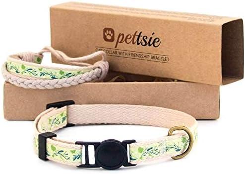 Pulsera de Seguridad Pettsie, 100% algodón, Duradera, Ajustable, 5-8 Pulgadas, Caja de Regalo incluida