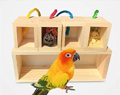 DUJIAOSHOU Houten vogelspeelgoed, speelgoed pedagogische training creatief blok gekleurd intelligent speelgoed voor…