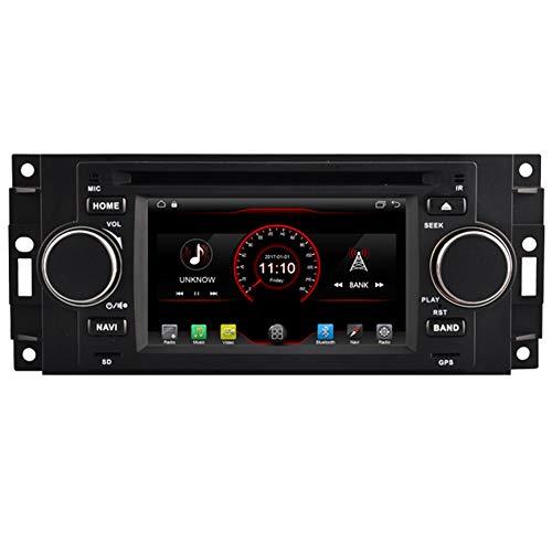 Autosion in Dash Android 10 Car DVD Player Radio Head Unit GPS Navigation Stereo for Chrysler 300c Jeep Commander Dodge RAM Caliber Mitsubishi Raider Support Bluetooth SD USB Radio OBD WiFi DVR 1080P