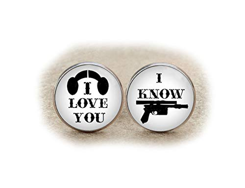 I Love You, I Know Boutons de manchette, boutons de manchette de mariage, jour de mariage