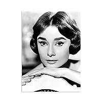 ヴィンテージAudrey Hepburnポスター有名な女性スター壁アートパネル黒白キャンバス絵画インテリアアンティーク写真ファッション版画サロンリビング部屋モダン装飾