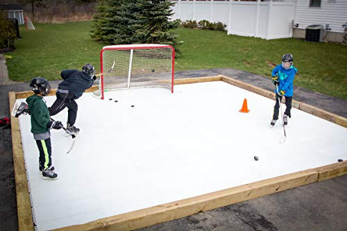 Skate Anytime - Synthetic Ice for Hockey - Skateable Artificial Ice Tiles - Expandable - Battle Tested for Hockey (Deluxe Rink (36 Panels / 100 sq ft))