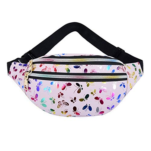 Women Zipper PU Waterproof Belt Bag Pouch Waist Pack Female fanny pocket Running Streetwear Pocket - 8