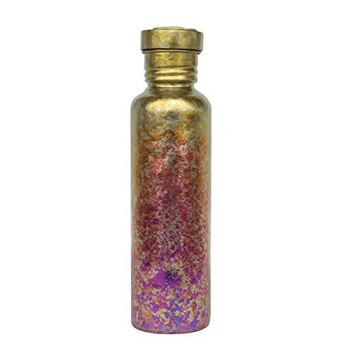 Botella de agua de titanio puro, botella ligera de color para el hogar, ciclismo, camping al aire libre (420 ml/750 ml)