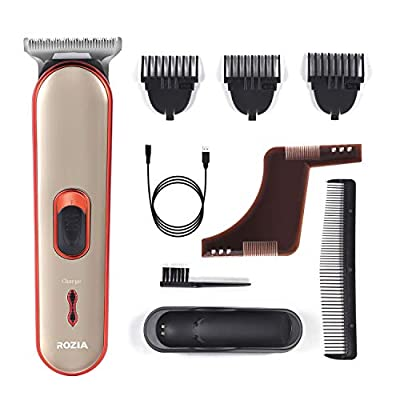 Beard Trimmer Hair Clippers Electric Razor for Men Mustache & Beard Groomer Hair Trimmer Cordless Clippers Precision Dial Portable USB Charging Cable by Roziaplus