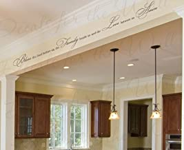 Bless the Food Before Us the Family Beside Us and the Love Between Us Amen - Prayer Dining Room Kitchen Religious God Christian - Wall Quote Sticker Graphic - Vinyl Decal Art Decoration - Mural Lettering Decor Saying