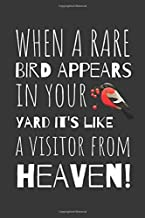 When A Rare Bird Appears In your Yard It's Like A Visitor From Heaven: Birdwatchers Journal Document Those Fantastic Moments Whilst Out Bird watching
